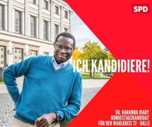 Karamba Diaby ist SPD-Bundestagskandidat für den Wahlkreis 72 - Halle