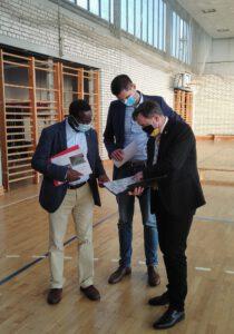 Diaby, Müller und Jahn in der Sporthalle Seyda